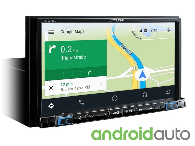 """Alpine INE-W710D 7"""" Touch Screen Navigation with TomTom maps, compatible  with Apple CarPlay and Android Auto"""
